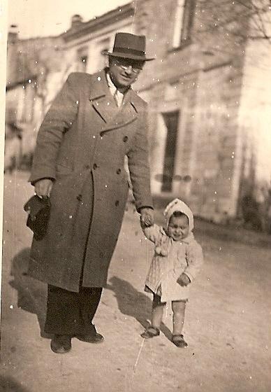 Raffaele Pellicciotta con la piccola Maria Gemma.