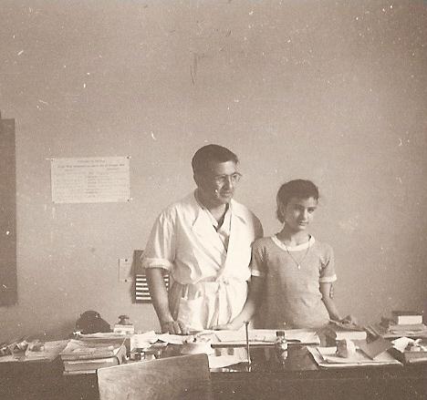 Raffaele Pellicciotta in compagnia della figlia Maria Gemma.